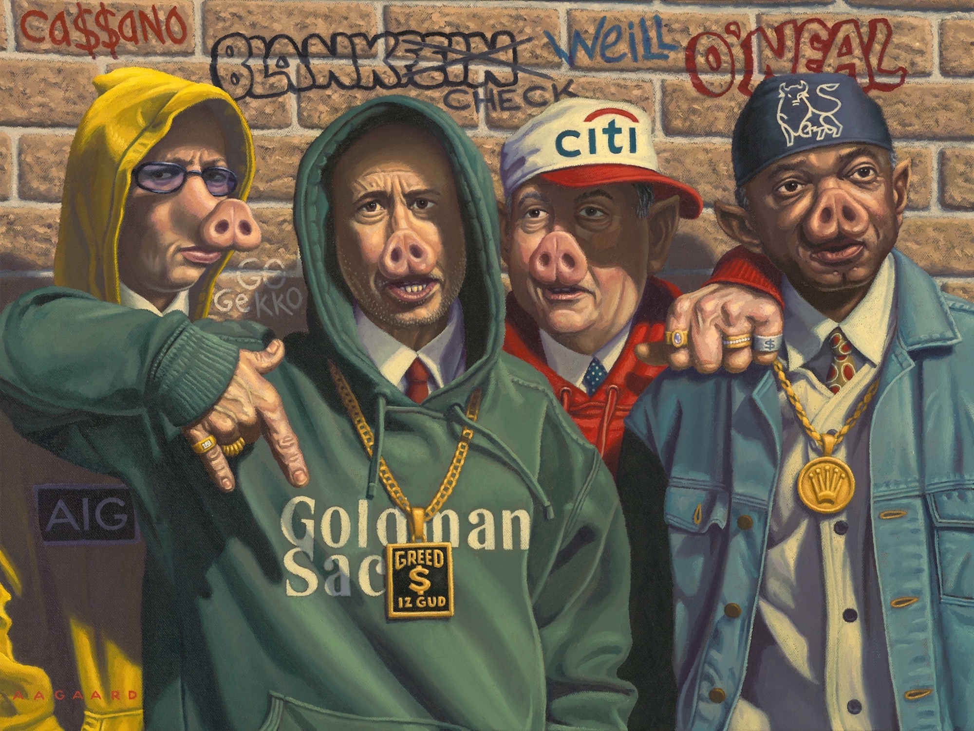 The Real Thugs - Original & giclee available