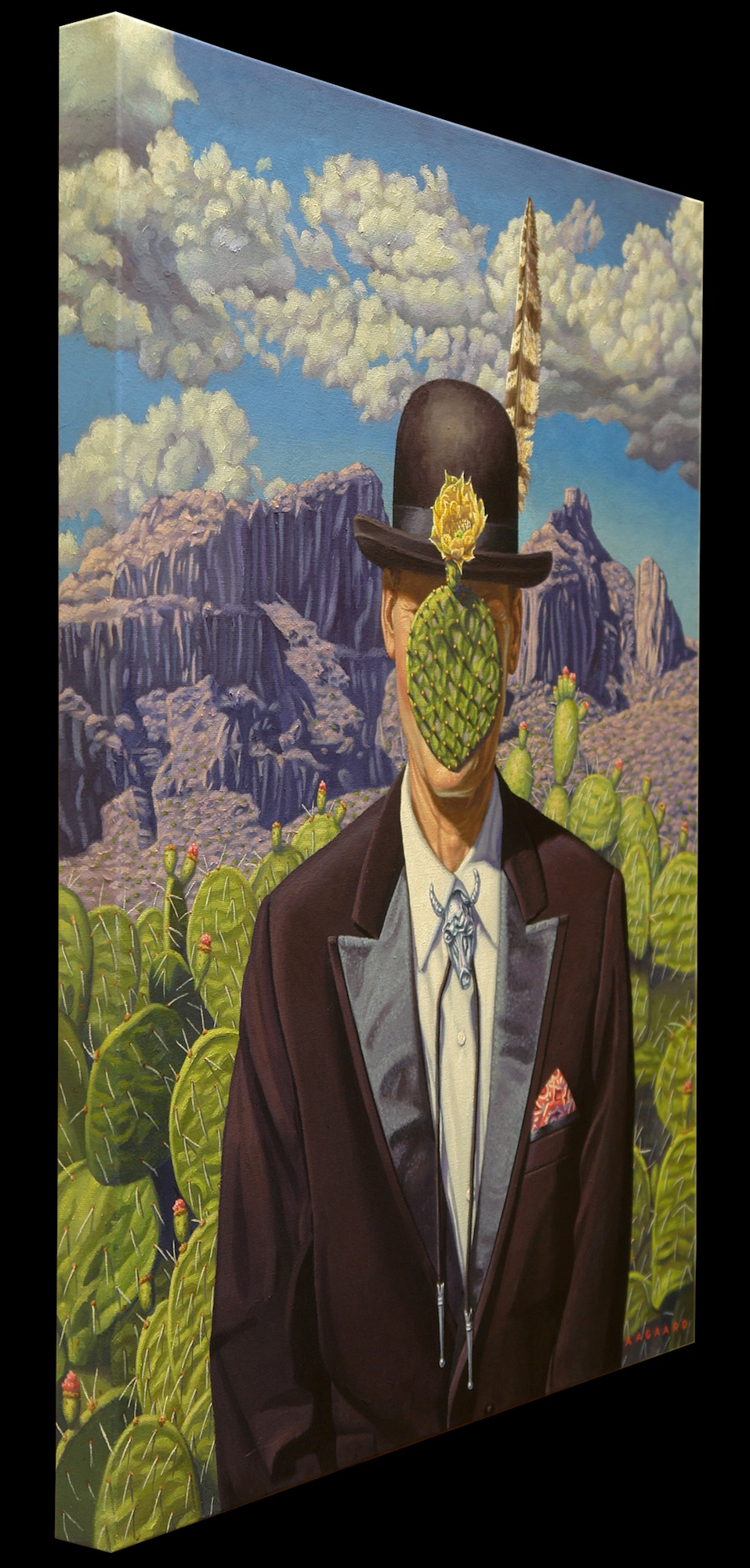 C'est Tucson (after Magritte) - original painting side view